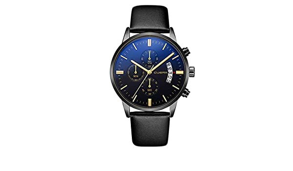 Amazon.com : XBKPLO Mens Quartz Watch, Analog Wrist Watches Business Fashion Classic Calendar Date Window, PU Leather Strap : Pet Supplies