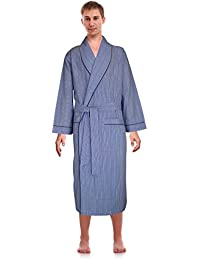 Classical Sleepwear Mens Woven Shawl Collar Robe,