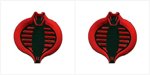 Application GI Joe Cobra Commander Theme Cosplay Applique Patch Great Gift for Parties, Decoration. Or Collecting! J&C Family Owned Brand 2-Pack Gift Set -