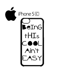 LJF phone case Being This Cool Ain't Easy Mobile Cell Phone Case Cover iphone 4/4s White