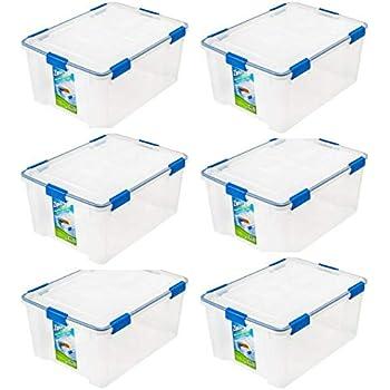 Amazon Com Iris 74 Quart Weathertight Storage Box 4 Pack