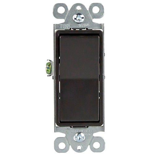 ENERLITES Elite Series 3-Way Decorator Paddle Light Switch, Residential Grade, 15A 120V-277V, Grounding Screw, Back Insert and Side Terminals, PN: 93150-DB, Dark Bronze Color ()