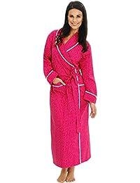 Womens Cotton Robe, Lightweight Woven Bathrobe
