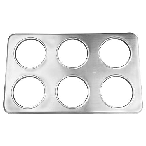 TableTop King 6 Hole Steam Table Adapter Plate - 4 3/4