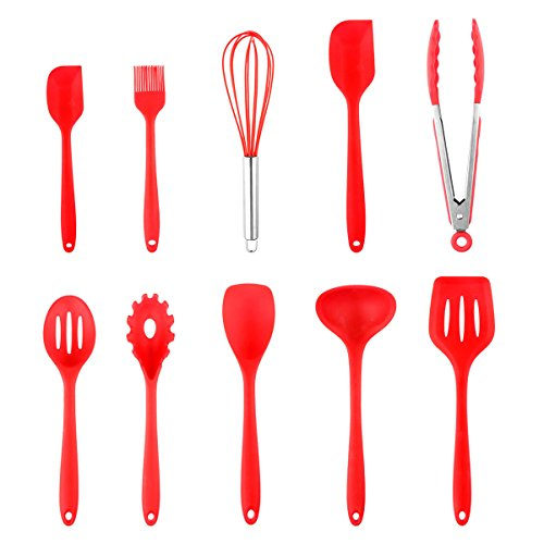 silicone-cooking-utensils-powstro-10-pcs-hygienic-solid-coating-heat-resistant-safety-baking-cooking