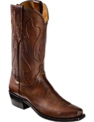 Lucchese Since 1883 Mens Cole Squared Off Toe Cowboy Heel Boot
