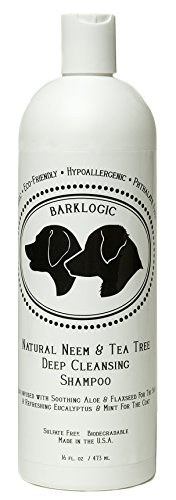 BarkLogic Natural Neem & Tea Tree Dog Shampoo, 16 oz Mint