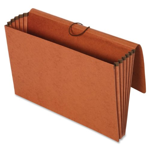 Globe-Weis/Pendaflex 100% Recycled File Wallets, 5.25-Inch Expansion, Elastic Cord Closure, Legal Size, Brown, 10-Count (73376R) ()