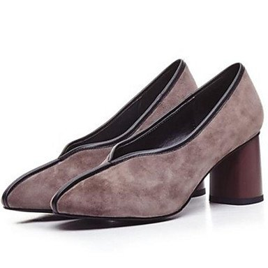 Schwarz High Damen 2 Heels Normal Mandelfarben cm Pumps 5 Herbst Leder Unter ggx Pumps Echtes LvYuan Winter pqxHPwP