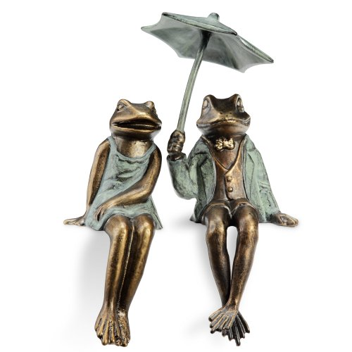 Frog Shelf Sitter (Sophisticated Frog Couple Shelf Sitters)