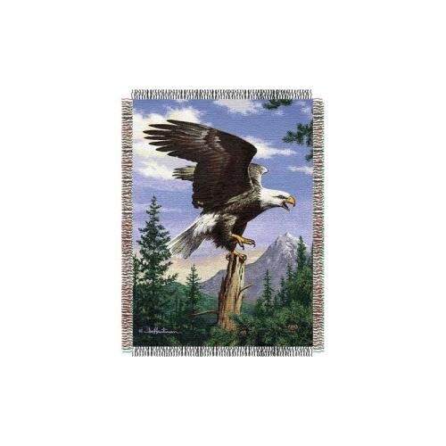 The Northwest Company Hautman Bros Eagle Perch Triple Woven Jacquard Throw (48x60) (2-Pack)