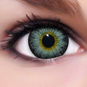 Linsenfinder Lenzera Circle Lenses graue 'Circle Grey' ohne und mit Stärke + Kombilösung + Behälter 14,50mm farbige Kontaktlinsen