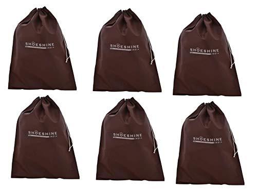 SHOESHINE Fabric Shoe Bag  Brown_SB_BRN_6