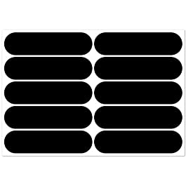 B REFLECTIVE, 10 retro reflective stickers kit, Night visibility safety, Universal adhesive for Bike/Stroller/Buggy/Helmet/motorbike/Scooter/Toys, 7 x 1,8 cm, Black