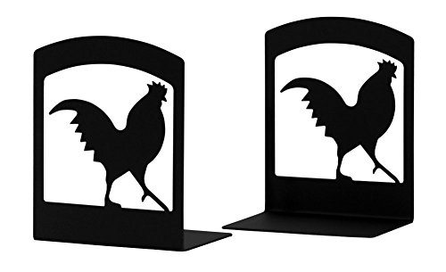 Wrought Iron Rooster Book Ends (Rooster Iron Wrought)