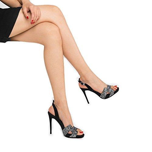 5 nouveau ouvertes 2018 Toe hauts sandales forme plate 37 femelle strass chaussures 10 des taille à avec fines Couleur cm talons imperméable Empty Noir Chaussures Noir Rainbow XwH0Hq