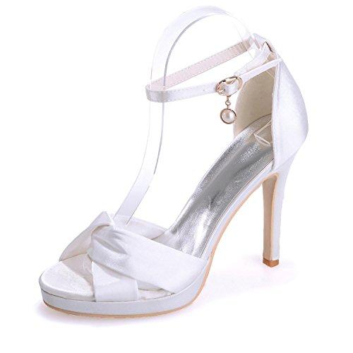 L@YC 5915-17 Zapatos De Boda Para Mujer / Colgantes De Hebilla acogedora artesanía De Fiesta Y De Oficina Nueva White