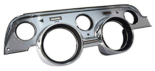 1967 Ford Mustang Deluxe Brushed Aluminum Instrument Cluster Bezel ()