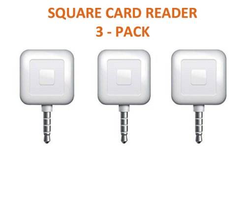 3 PACK - Square Card Readers (Square Iphone For Card Reader)