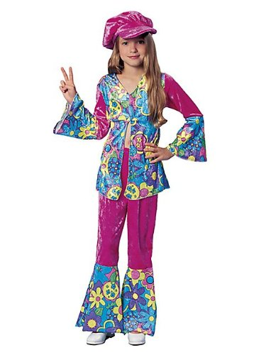 60's Themed Halloween Costumes (Franco American Novelty 49038-M Costume Flower Power - Medium)