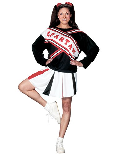 Classic Womens Cheerleader Costume Spartan Girl Sizes: One (Female Spartan Halloween Costume)