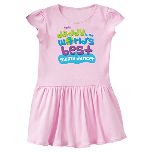 Ballerina Swing - inktastic My Daddy is The World's Best Toddler Dress 2T Ballerina Pink 255cc