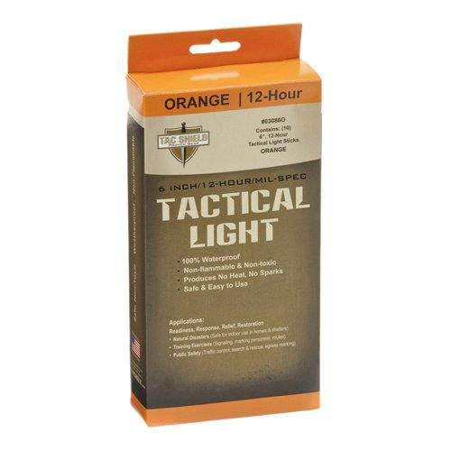 Price comparison product image TAC SHIELD Tactical 12 Hour Light Stick (10-Pack), Orange