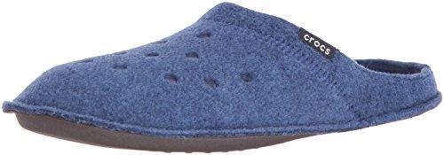 crocs Unisex Classic Slipper Mule, Cerulean Blue/Oatmeal, 2 US Men / 4 US Women