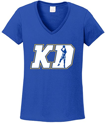 Silo Shirts Royal KD DURANT Golden State ''KD LOGO'' LADIES V-NECK ADULT by Silo Shirts