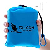 TX-CDH Outdoor Beach Blanket/Compact Multi-Functional Pocket Blanket 55' x70' - Anti-sand Camping, Waterproof Ground Cover, Sand Proof Picnic Mat, Suitable For Travel, Hiking, Parks, Camping, Festival