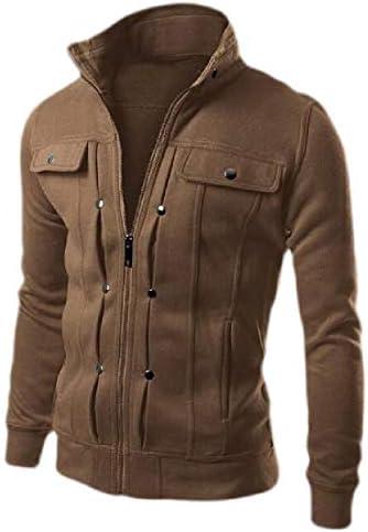 メンズボタンダウンロングスリーブスウェットシャツトップスジャケットコートアウトウェア