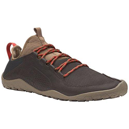 Vivobarefoot Primus Treck Men's Lightweight Off Road Trail Walking Shoe, Dark Brown, 43 D EU (10 US)