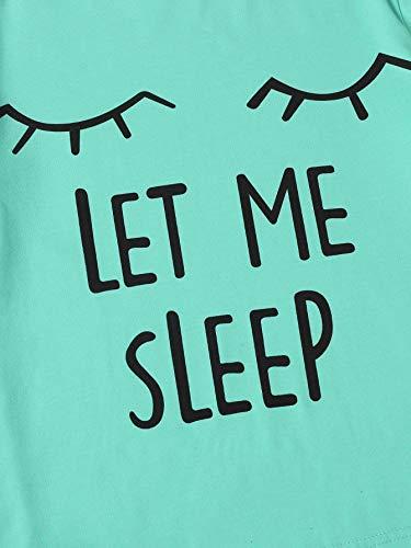 Image result for WDIRARA Women's Sleepwear Closed Eyes Print Tee and Shorts Pajama Set