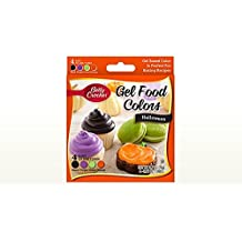 Betty Crocker Halloween Gel Food Colors - Black, Purple, Green, Orange, 2.7 oz.