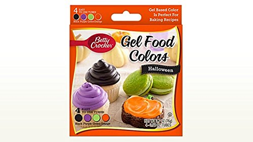 [Betty Crocker Halloween Gel Food Colors - Black, Purple, Green, Orange, 2.7 oz.] (Cupcakes Frosting Halloween)