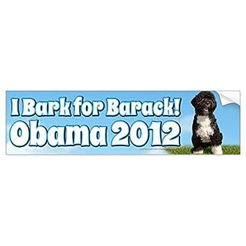 I bark for barack bo the first dog obama bumper sticker sticker graphic