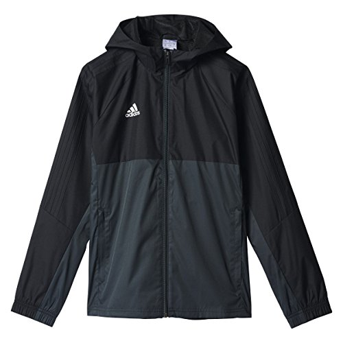 adidas Youth Tiro 17 Soccer Rain Jacket M Black/Dark -