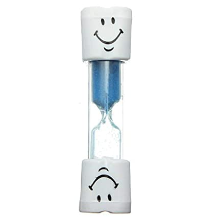 Aofocy Cepillo de dientes para niños con reloj de arena, azul