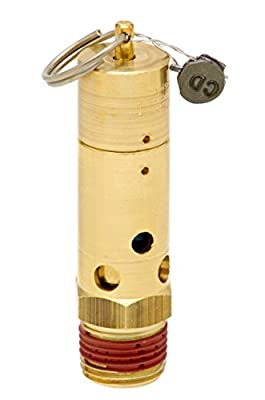 Control Devices SF50-1A175 SF Series Brass Soft Seat ASME Safety Valve, 175 psi Set Pressure, 1/2 Male NPT by Control Devices