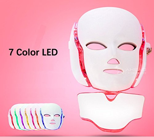 Photon Therapy-LED Beauty Mask 7 in 1 Face & Neck Mask for F