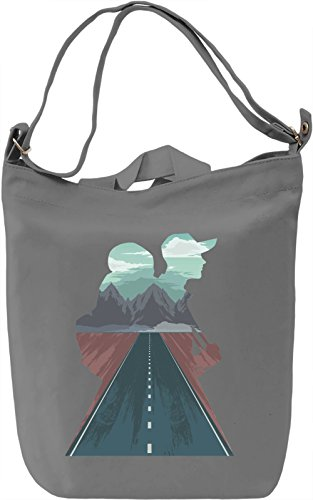 Traveling Borsa Giornaliera Canvas Canvas Day Bag| 100% Premium Cotton Canvas| DTG Printing|