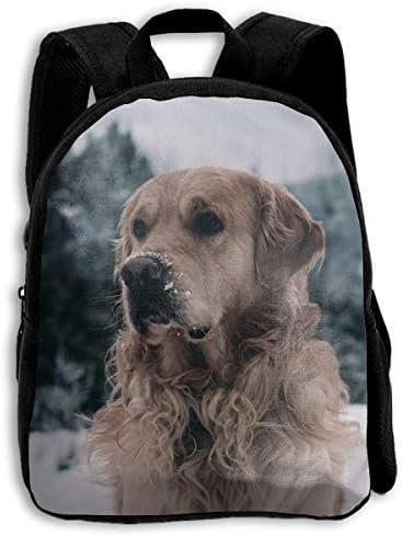 ADGBag Labrador Dog Winter Snow Children's Backpack Kids School Bag with Adjustable Shoulders Ergonomic Back Pad Perfect for School Security Sporting Events Kinderrucksack Rucksack
