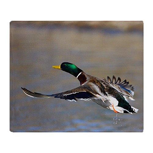 CafePress-Duck in Flight-Soft Fleece Throw Blanket (Duck Throw Blanket)