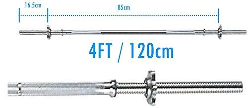 Hierro fundido BodyRip juego de pesas pesa 25 kg + 2,54 cm estándar 121,92 cm Barbell: Amazon.es: Deportes y aire libre