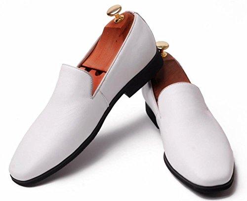 Piazza del XIE Nozze Attivit Uomini su Dito Pelle Formale Scivolare Scarpe piede Oxford bianca 68Axwq6H
