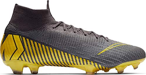 Nike Unisex Adults Mercurial Superfly 6 Elite FG Soccer Cleats Grey Yellow AH7365 070 (11)