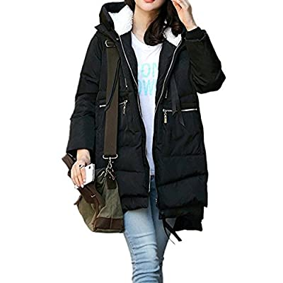 JJyee Women's Winter Down Coat Thickened Puffer Parka With Hood size Large