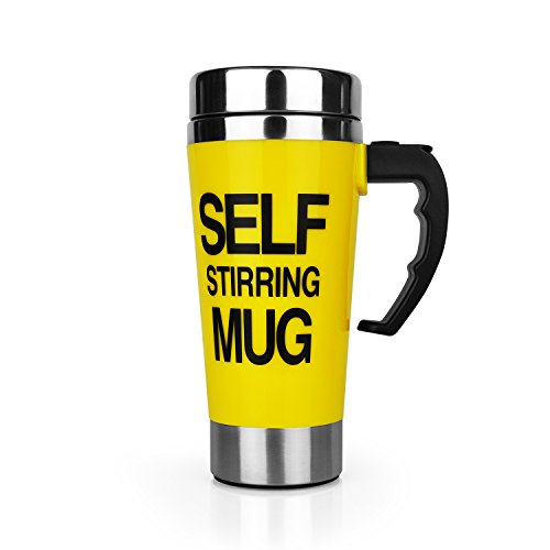 Self Stirring Coffee Mug(Yellow) - 2