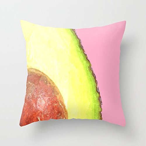 Rdsfhsp Avocado - Fundas de cojín con fondo rosa para ...
