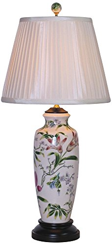 East Enterprises LPDBHH1015C Vase Table Lamp - (Asian Porcelain Lamps)